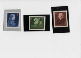 Série Timbres Neufs** Non Dentelée , 1942 , N: (603/05 ) TB ( Croix Rouge.) - Unused Stamps
