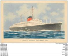 Cpsm Cpm Cuirassé Paquebot CHAMPLAIN (1932) - Steamers