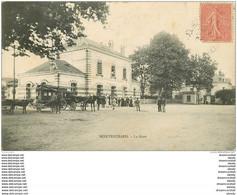 41 MONTRICHARD. Attelage Fiacre Bus Devant La Gare 1906 - Montrichard