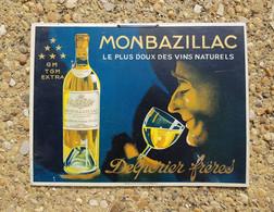 Plaque Publicitaire En Carton - MONBAZILLAC - Delpérier Frères - Autres