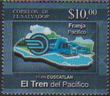 EL SALVADOR, 2019, MNH, TRAINS, PACIFIC TRAIN, 1v - Treinen