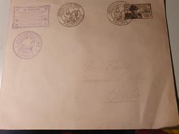 LOUIS XI ALGERIE JOURNEE DU TIMBRE 13 OCT 1945 PHILIPPEVILLE SUR ENVELOPPE - Briefe U. Dokumente