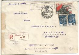 URSS MOSCU CC CERTIFICADA A BERLIN 1939 - Briefe U. Dokumente