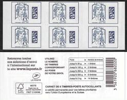 1216A-C2 CARNET MARIANNE DE CIAPPA BLEU EUROPE - Usage Courant