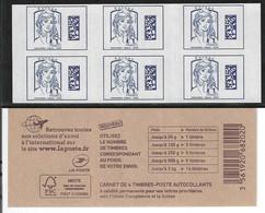 1216A-C1 CARNET MARIANNE DE CIAPPA BLEU EUROPE - Usage Courant
