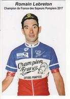 ROMAIN LEBRETON CHAMPION DE FRANCE DES SAPEURS POMPIERS 2017 - Cycling