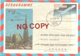 Wien 9.8.1988. 70° Del Volo Di Gabriele D'Annunzio Su Vienna. Dispaccio Aereo, Scalo Tecnico Ronchi Dei Legionari. - Poste Aérienne