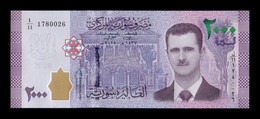 Siria Syria 2000 Pounds P. Assad 2015 Pick 117a SC UNC - Syrie