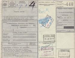 Postcolli - Colis Postaux - 448 - Athus - Cockerill-Ougrée / Flacons D'huile Pour Analyse - 1952-....