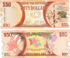 Guyana 50 Dollars 2016 UNC Commemorative - Guyana