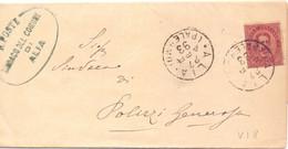 1893  Piego Da Alia  Per Polizzi Generosai Con Umberto I Da 10c - Poststempel