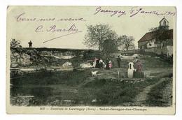 Environs De Gevinchey - Saint Georges Des Champs (animation, église, Fontaine, Berger, Chiens & Brebis) Circ 1908 - Otros Municipios