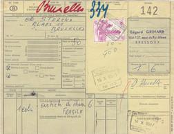 Postcolli - Colis Postaux - 142 - Bressoux Edgard GRIMARD - Hunting Items - Jacht - Chasse / Fragile - 1952-....