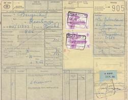 Postcolli - Colis Postaux - 905 - Bruxelles La Zelandaise - écreusses - Zeekreeften / Bergenhof Haecht - 1952-....