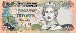 Bahamas 1/2 Dollar, P-68 (2001) - AU - Serial Nr. A1121111 - Bahamas