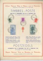 787-791 Feuillet Souvenir Premier Jour. Portrait Du SENAT,  BELGIQUE Cote 55-€ - Cartas
