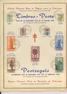 814-822 Feuillet Souvenir Premier Jour. Portrait Du SENAT,  BELGIQUE Cote 55-€ - Cartas