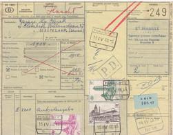 Postcolli - Colis Postaux - 249 - Bruxelles 8 - Ets. MABILLE - Autovleugels - Car Wings - 1952-....