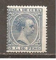 Cuba - Edifil 149 - Yvert 92 (MH/*) (con Papel) - Kuba (1874-1898)