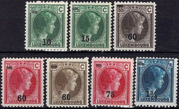 Luxembourg, Luxemburg 1928/29 Grande-Duchesse Charlotte 7 Timbres Neuf* - 1926-39 Charlotte Rechtsprofil