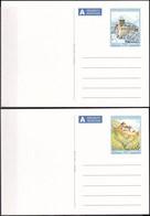 LIECHTENSTEIN 2010 Mi-Nr. P 114/15 Ganzsache 2 Postkarten Ungebraucht - Postwaardestukken