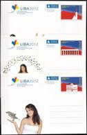 LIECHTENSTEIN 2012 Mi-Nr. P Ganzsache 3 Postkarten Ungebraucht - Postwaardestukken