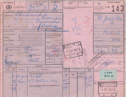 Postcolli - Colis Postaux - 143 - Beloeil Ets. Jadot Frères / Charbonnages De Beeringen - 1952-....