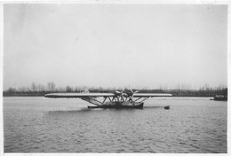 CAUDEBEC EN CAUX HYDRAVION LATECOERE LA CROIX DU SUD 1934 PHOTO ORIGINALE 8 X 5.50 CM - Aviation
