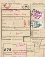 Postcolli - Colis Postaux - 876 - Kalmthout - Van Thillo Alfons / Halles MOTTE Bxl Nord - 1952-....