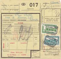 Postcolli - Colis Postaux - 017 -  Gand - Gent Firme BOLLE - Casquettes - 1952-....