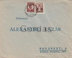 Romania - Bucuresti - Envelope - 1933 - Alexandru Lazar - Judaica - Advertise - Briefe U. Dokumente