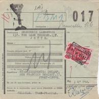 Postcolli - Colis Postaux - 017 -  Jumet - Coupe Ets. DECAMP - Cellulo - 1952-....