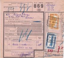 Postcolli - Colis Postaux - 869 - Charleroi - Charbonnages MAMBOURG, Sacré Madame Et Poirier - 1952-....