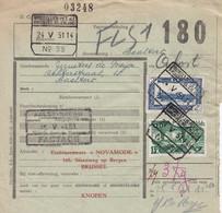 Postcolli - Colis Postaux - 180 - Brussel - NOVAMOIDE - Knopen - Boutons - Buttons - 1952-....
