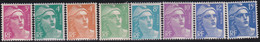 France   .    Yvert    .    806/813    .     *     .    Neuf Avec Gomme  Et Charnière     .   /   .     Mint-hinged - Unused Stamps