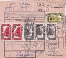 Postcolli - Colis Postaux - 155 - Hollogne - VIEILLE MONTAGNE - Blanc De Zinc / Rouge Broyé à  L' Huile De Lin - 1952-....