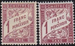 France   .    Yvert    .    Taxe 40/40A     .     *     .    Neuf Avec Gomme  Et Charnière     .   /   .     Mint-hinged - 1859-1955 Neufs