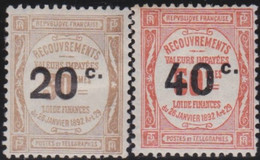 France   .    Yvert    .    Taxe 49/50     .     *     .    Neuf Avec Gomme  Et Charnière     .   /   .     Mint-hinged - 1859-1955 Neufs