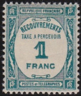 France   .    Yvert    .    Taxe  60   .     *     .    Neuf Avec Gomme  Et Charnière     .   /   .     Mint-hinged - 1859-1955 Postfris
