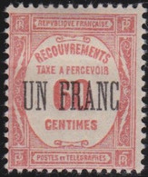 France   .    Yvert    .    Taxe  63     .     *     .    Neuf Avec Gomme  Et Charnière     .   /   .     Mint-hinged - 1859-1955 Neufs