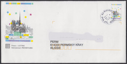 2017-STATIONERY COVER FROM FRANCE/BIARITZ TO RUSSIA - Lettres & Documents