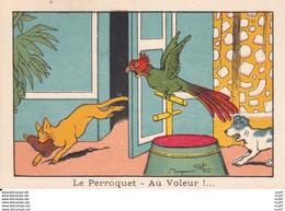 IMAGES ILLUSTREES.  Le Perroquet- Au Voleur !....chat Chien  Illustrateur Benjamin RABIER. ..C357 - Other