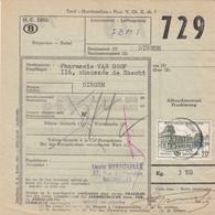 Postcolli - Colis Postaux - 729 - Bxl - Louis BERTOUILLE - Extrait De Plantes - Homeopathie - 1952-....