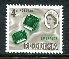 Rhodesia 1966 Pictorial Definitives - 4d Emeralds MNH (SG 377) - Rhodesia (1964-1980)