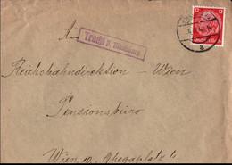 ! 1940 Brief Mit Landpoststempel Tracht P. Nikolsburg Nach Wien, Reichsbahndirektion - Brieven En Documenten