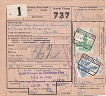 Postcolli - Colis Postaux - 737 - Liège - Soc. Nat. Des Distributions D'Eau / Cartes Index IBM - 1952-....