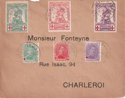 BELGIQUE 1914 LETTRE DE ANTWERPEN - 1914-1915 Croix-Rouge