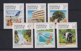 Sierra Leone 1980 Tourismus Mi.-Nr. 618-23 Satz 6 Werte ** - Sierra Leona (1961-...)