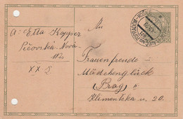 Czechoslovakia, 1929, Card Sent 4.9.1929 By Mail (railway) Train Orlov - Plaveč Nad Popradom - Košice, Mail Train 971 - Covers & Documents
