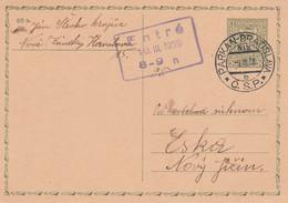 Czechoslovakia, 1938, Card Sent 8.3.1938 By Mail (railway) Train Parkan - Bratislava, Mail Train Course 812 - Covers & Documents